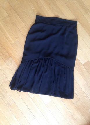 Дизайнерская двухслойная юбка с шифоновым низом