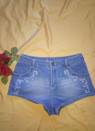 Короткие джинсовые шорты denim co, размер м
