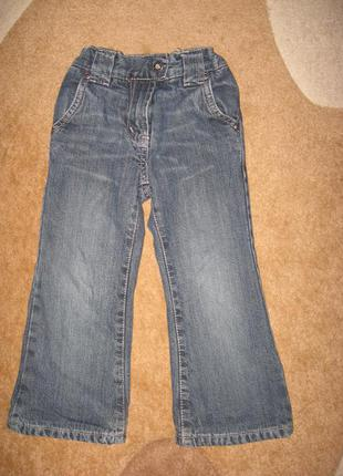 Демисезонные джинсы на котоновой подкладке ф.раlomino р-92/98 в отличном состоянии