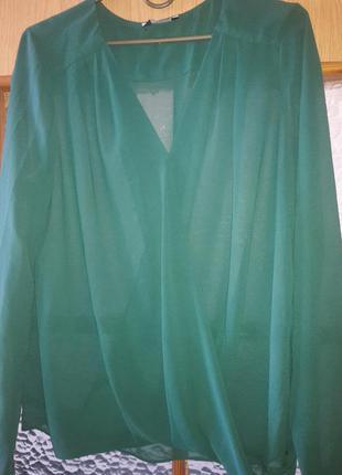 Блуза темно-зеленого цвета