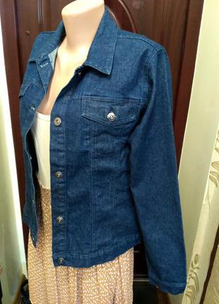 Джинсовый пиджак с люрексом размер l
