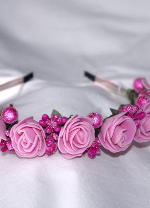Рожевий обруч hand made