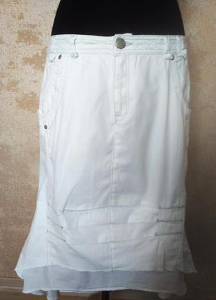 Очень классная коттоновая юбка, размер 48-50