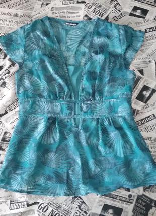 Бирюзовая блуза marks&spencer