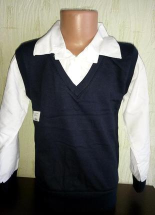 Рубашка обманка  для мальчика.
