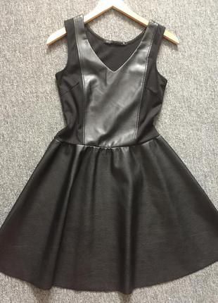 Платье с эко-кожи house