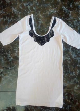 Удлинённая футболка, туника