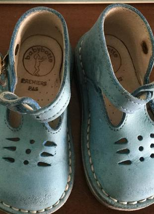 Кожаные детские летние туфли на 20 р 12,6 см