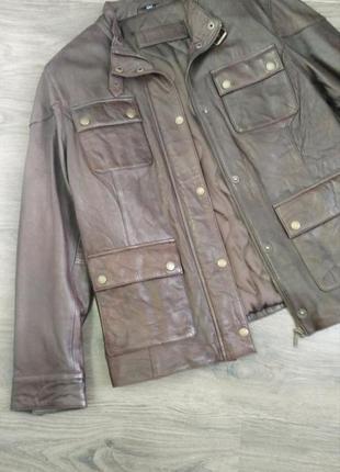 Yessica, оригинал. кожаная утепленная куртка, косуха, пиджак. l