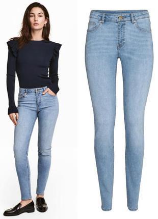 Голубые джинсы скинни h&m,крутые суперские джинси на весну очень круто сидят1