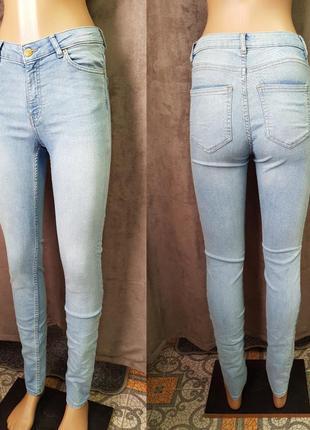 Голубые джинсы скинни h&m,крутые суперские джинси на весну очень круто сидят2