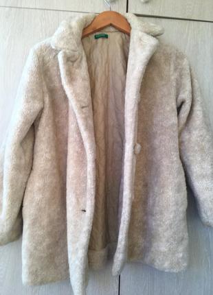 Трендовое пальто искусственный мех шуба