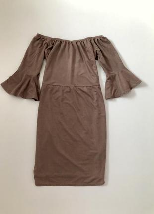 Трендовое платье под замш