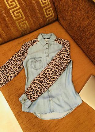 Рубашка oodji, джинсовая рубашка