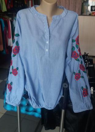 Блузка рубашка с вышивкой