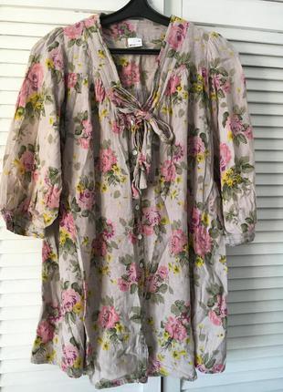 Блуза цветочный принт