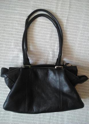 Шкіряна  велика сумка типу саквояж zara оригінал