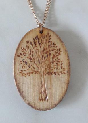 Подвеска из дерева ручной работы