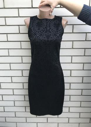 Очень красивое,черное,вечернее платье в бархатный принт,сарафан по фигуре,atmosphere
