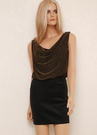 Шикарное платье с золотым напылением