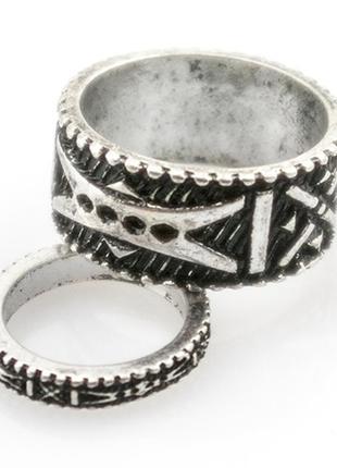 Набор из 2х колец на палец и на фалангу шаманский амулет