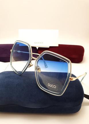 New 2018 солнцезащитные очки с голубой линзой градиент