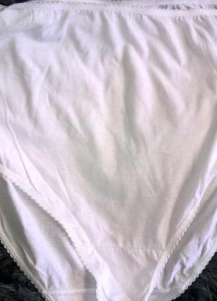 Белые трусики батал натуральные хлопковые трусы 22 размер 56