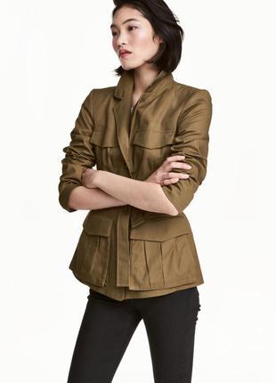 Приталенная куртка пиджак h&m, m