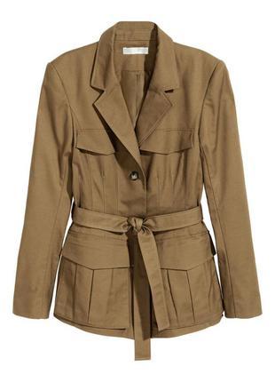 Приталенная куртка пиджак h&m, m2 фото