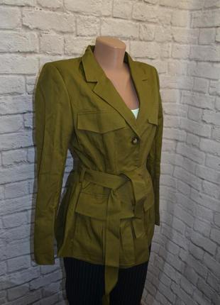 Приталенная куртка пиджак h&m, m5 фото