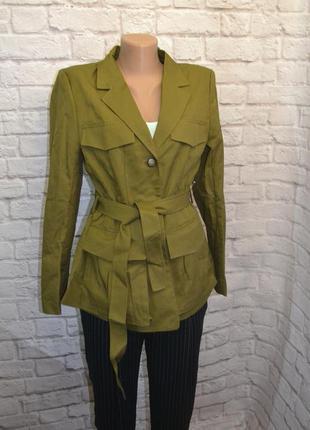 Приталенная куртка пиджак h&m, m3 фото
