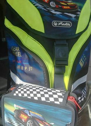 Комплект. школьный рюкзак+спортивная сумка + пенал herlitz (германия), оригинал
