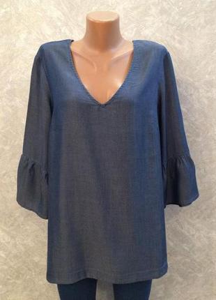 Блузка  с воланами и завязкой сзади