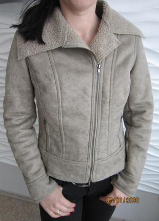 Искусственная короткая дубленка, куртка, косуха р. м