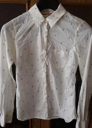 Рубашка с якорями h&m!