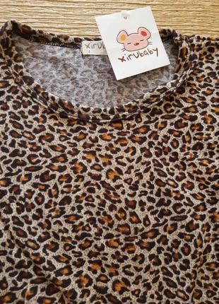 Платье леопардовое