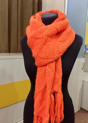 Яркий, тёплый шарф, шерсть