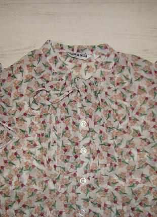 Легкая шифоновая блузка на девочку 12 лет.