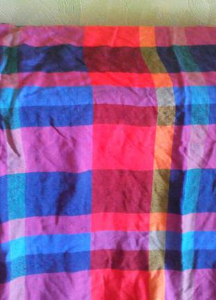 Клетчатый платок-шарф