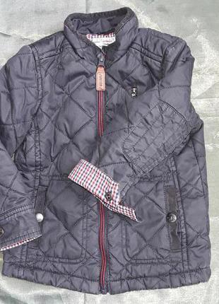 #розвантажуюсь вощеная деми курточка debenhams на 2-3 года