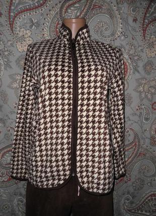 Флисовая куртка / флиска / гусиная лапка