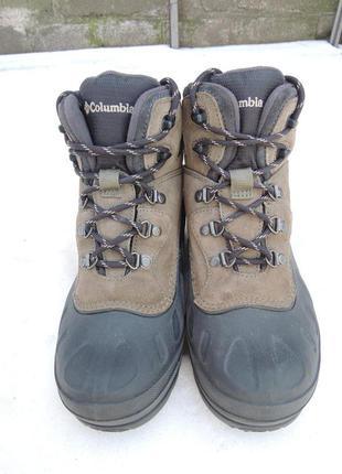 Зимние кожаные резиновые сапоги columbia waterproof р.34-35 (22,5 см)