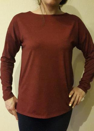Бордовый свитерок