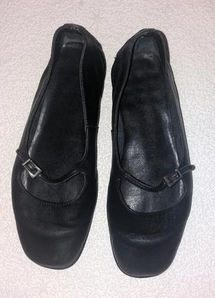 Удобные балетки (чешки) из мягкой качественной кожи, footglove