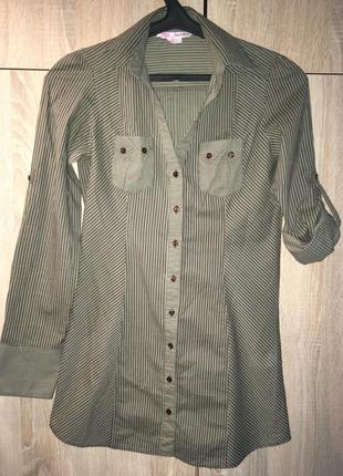 Крутая удлинённая рубашка!
