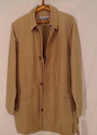Демисезонная длинная куртка-плащ