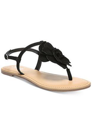 Carlos santana ориинал замшевые черные сандалии с цветком бренд из сша