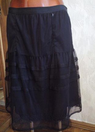 Богемная юбка от noa noa, фатин+100% вискоза