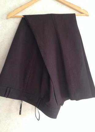 Повседневные классика коричневые брюки