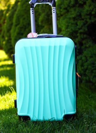 🔥качество! дорожный чемодан на колесах из поликарбоната средний чемодан валіза